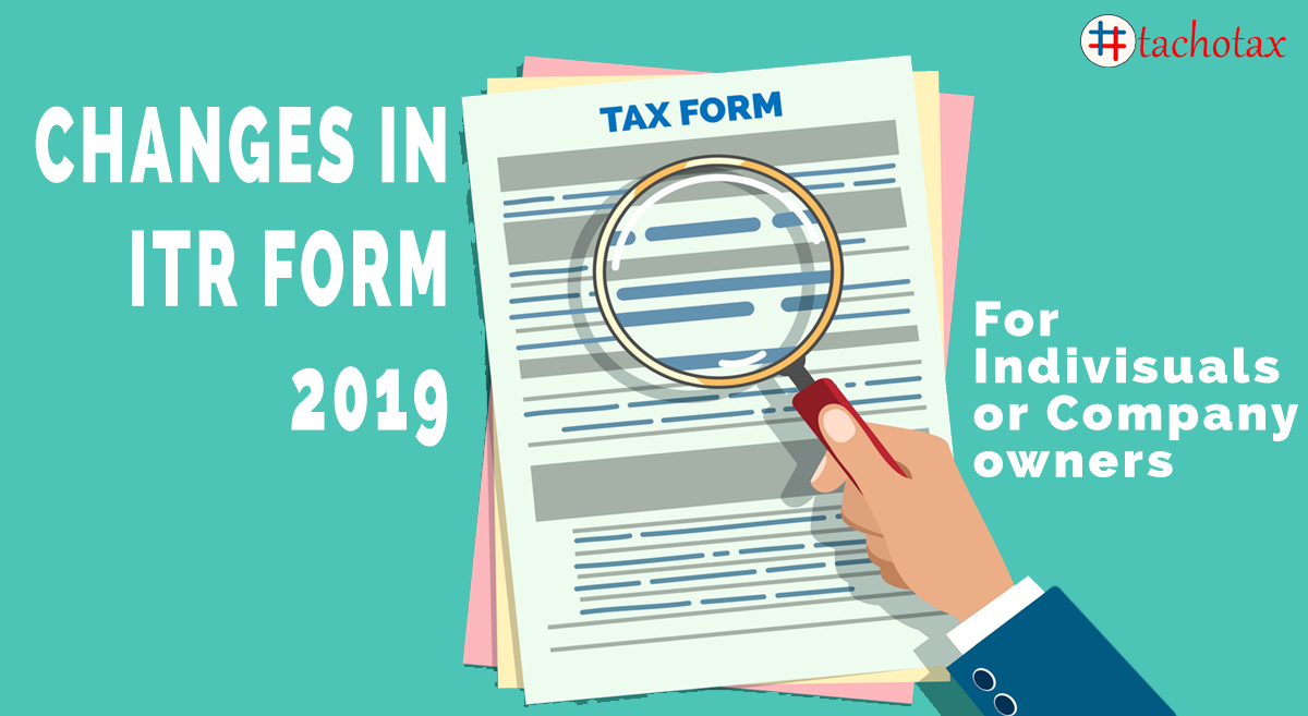 changes in itr form